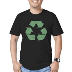 Vintage Recycle Logo Mens Fitted Dark T-Shirt