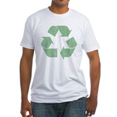 Vintage Recycle Logo Fitted T-Shirt