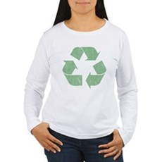 Vintage Recycle Logo Womens Long Sleeve T-Shirt