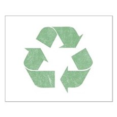 Vintage Recycle Logo Small Poster