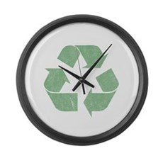 Vintage Recycle Logo Large Wall Clock