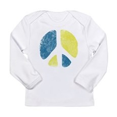 Vintage Peace Sign Long Sleeve Infant T-Shirt
