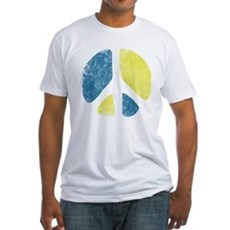 Vintage Peace Sign Fitted T-Shirt