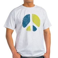 Vintage Peace Sign Light T-Shirt