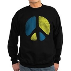 Vintage Peace Sign Dark Sweatshirt