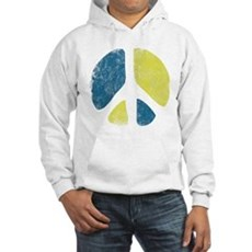 Vintage Peace Sign Hooded Sweatshirt