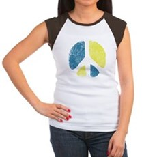Vintage Peace Sign Womens Cap Sleeve T-Shirt