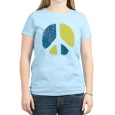 Vintage Peace Sign Womens Light T-Shirt
