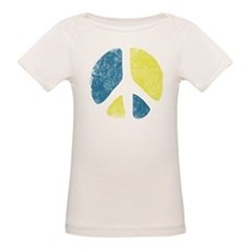 Vintage Peace Sign Organic Baby T-Shirt