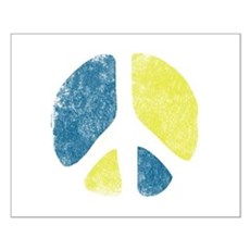 Vintage Peace Sign Small Poster