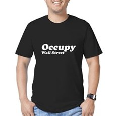 Occupy Wall Street Mens Fitted Dark T-Shirt
