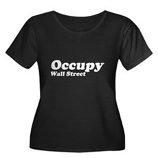 Occupy Wall Street Womens Plus Size Scoop Neck Da