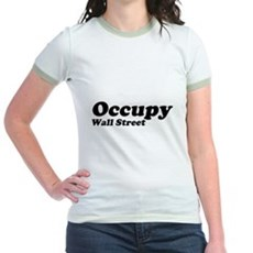 Occupy Wall Street Jr Ringer T-Shirt