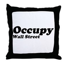 Occupy Wall Street Throw Pillow