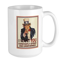 Afraid & Uniformed Large Mug
