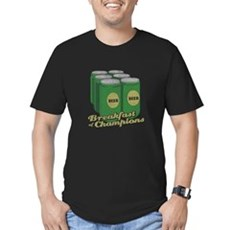 Beer Breakfast of Champions Mens Fitted Dark T-Shirt