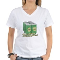 Beer Breakfast of Champions Womens V-Neck T-Shirt