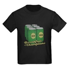 Beer Breakfast of Champions Kids T-Shirt