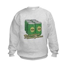 Beer Breakfast of Champions Kids Sweatshirt