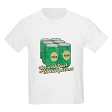 Beer Breakfast of Champions Kids Light T-Shirt