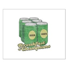Beer Breakfast of Champions Small Poster