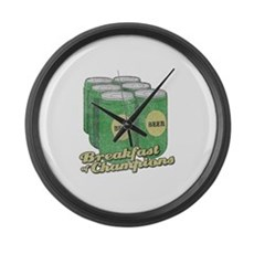 Beer Breakfast of Champions Large Wall Clock