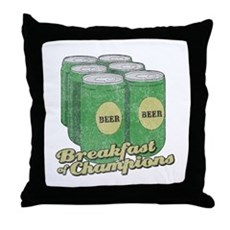 Beer Breakfast of Champions Throw Pillow