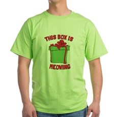 This Box is Meowing Green T-Shirt