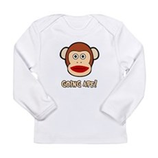 Sock Monkey Going Ape Long Sleeve Infant T-Shirt