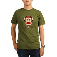 Sock Monkey Going Ape Organic Mens Dark T-Shirt
