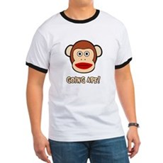 Sock Monkey Going Ape Ringer T