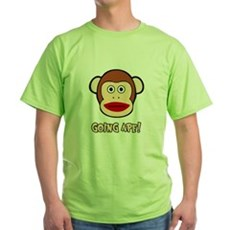 Sock Monkey Going Ape Green T-Shirt
