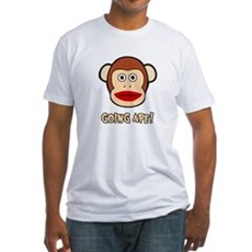 Sock Monkey Going Ape Fitted T-Shirt