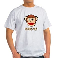 Sock Monkey Going Ape Light T-Shirt