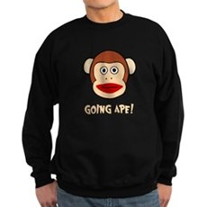 Sock Monkey Going Ape Dark Sweatshirt