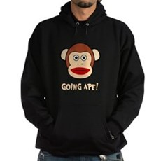 Sock Monkey Going Ape Dark Hoodie