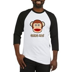 Sock Monkey Going Ape Baseball Jersey