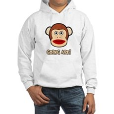 Sock Monkey Going Ape Hooded Sweatshirt