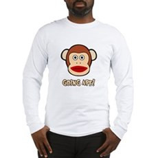 Sock Monkey Going Ape Long Sleeve T-Shirt