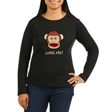 Sock Monkey Going Ape Womens Long Sleeve Dark T-S