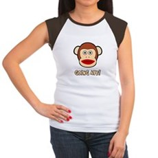 Sock Monkey Going Ape Womens Cap Sleeve T-Shirt