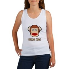 Sock Monkey Going Ape Womens Tank Top