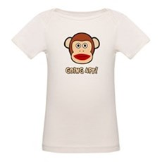 Sock Monkey Going Ape Organic Baby T-Shirt