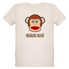 Sock Monkey Going Ape Organic Kids T-Shirt
