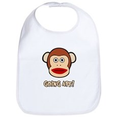 Sock Monkey Going Ape Bib