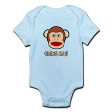 Sock Monkey Going Ape Infant Bodysuit