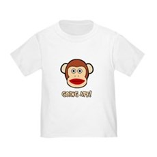 Sock Monkey Going Ape Toddler T-Shirt