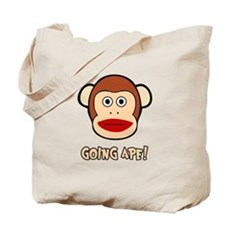 Sock Monkey Going Ape Tote Bag
