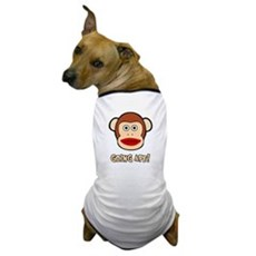 Sock Monkey Going Ape Dog T-Shirt