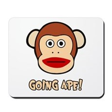 Sock Monkey Going Ape Mousepad